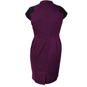 Calvin Klein Women's Faux-Suede Gabardine Dress